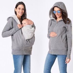 Seraphine Cotton Blend 3 in 1 Maternity Hoodie